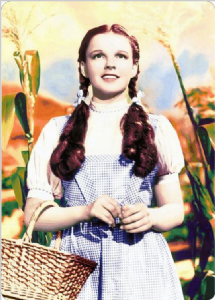 Wizard Of Oz Dorothy metal wall sign   305mm x 205mm (sf)